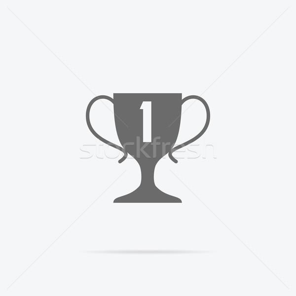 Stock photo: Winner Concept Goblet Design Flat