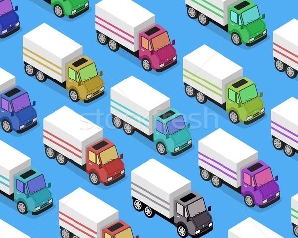 Isometric Delivery Van Car Icon Stock photo © robuart