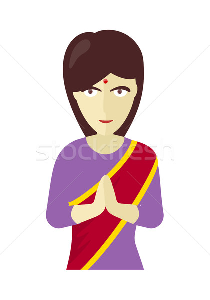 Indians Woman in Traditional Dress Stock photo © robuart
