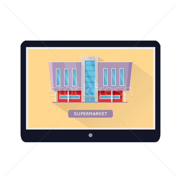 Irodaépület web design sablon bevásárlóközpont háló oldal Stock fotó © robuart