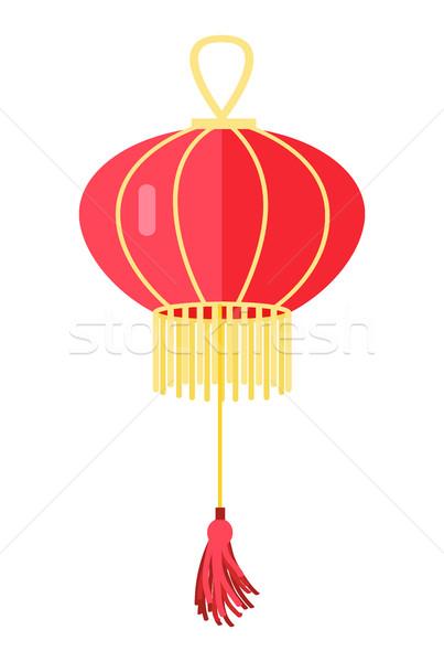 Kínai piros lámpa labda távolkeleti lámpás Stock fotó © robuart
