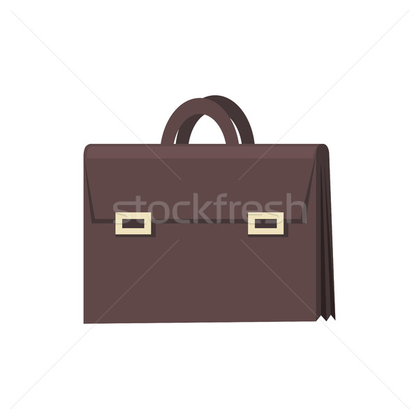 Brown Briefcase Icon Stock photo © robuart