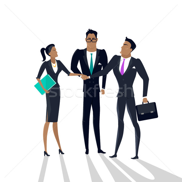 ビジネス 協力 ベクトル スタイル チームワーク デザイン ストックフォト © robuart