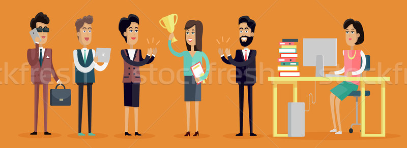 Business People Characters Stock photo © robuart