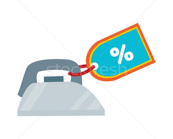 Vasaló címke terv ikon hagyományos otthon Stock fotó © robuart