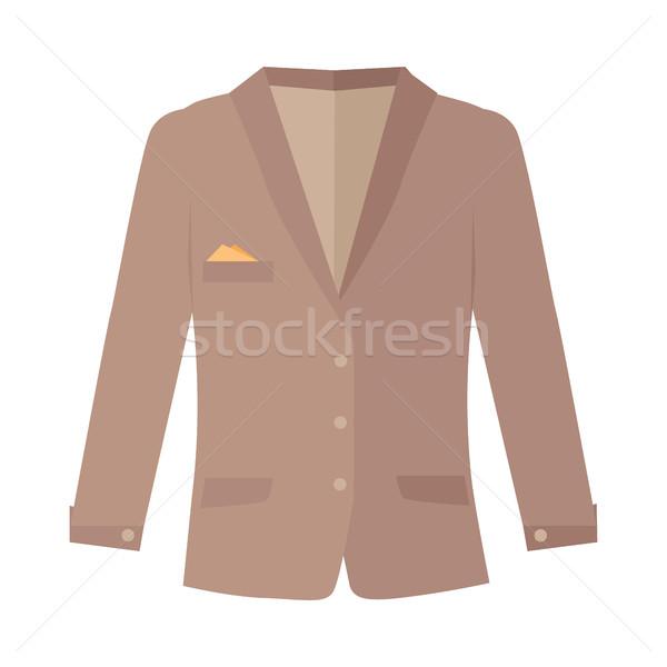 Unisex Jacket Isolated on White. Autumn clothes. Stock photo © robuart