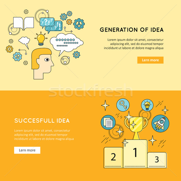Stock photo: Generation Successful Idea Vector Banners.