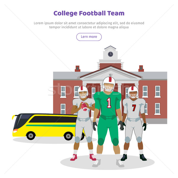 Colleage Football Team. High School on Background Stock photo © robuart