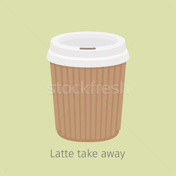 Latte Take Away. Coffee in Paper Cup Illustration Stock photo © robuart