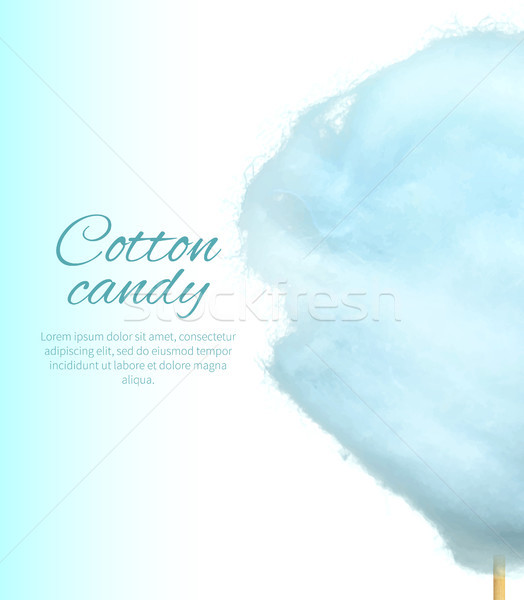 Cotton Candy Banner with Sweet Floss Spun Sugar Stock photo © robuart