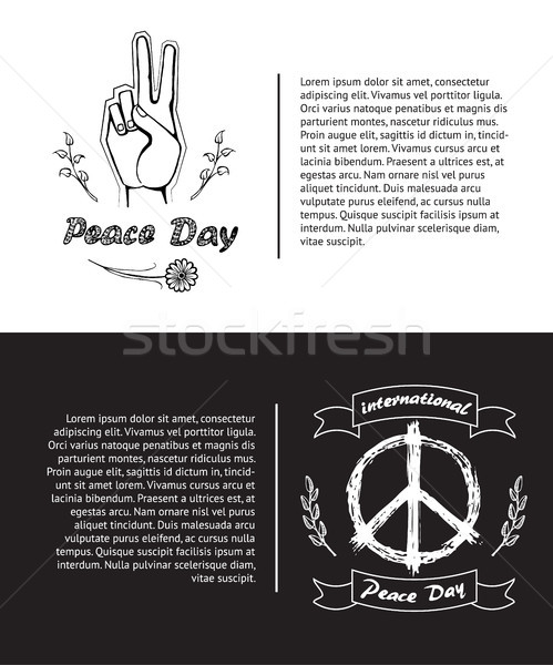 Set of Posters for International Peace Day Vector Stock photo © robuart