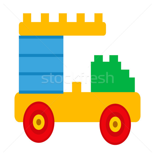 Simple Car Constructor Toy Isolated Illustration Stock photo © robuart