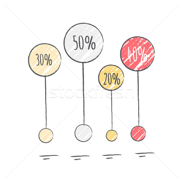 Percentage Visualization Icon Vector Illustration Stock photo © robuart