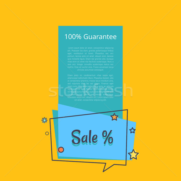 100 gwarantować sprzedaży banner placu dymka Zdjęcia stock © robuart