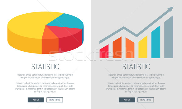 Statistic Design with Pie Chart and Bar Graph Stock photo © robuart