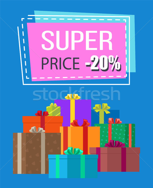 Super Price Sale Clearance Vector Illustration Stock photo © robuart