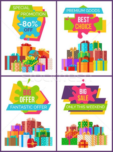 Különleges promóció legjobb választás nagy fantasztikus ajánlat Stock fotó © robuart
