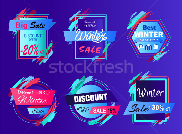 Big Sale Discount Offer on Vector Illustration Stock photo © robuart