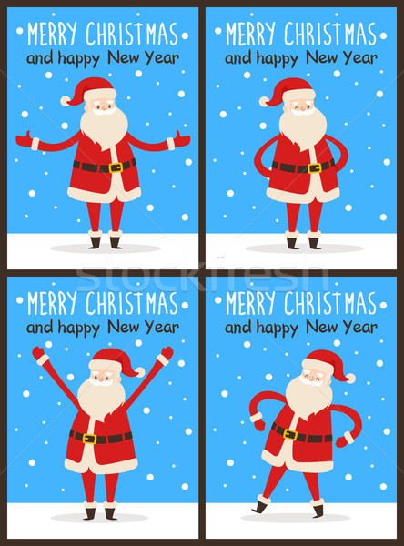 Merry Christmas and Happy New Year Santa Claus Stock photo © robuart