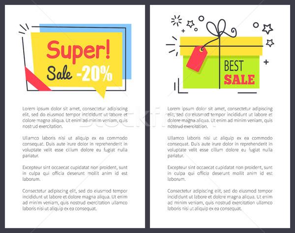 Legjobb szuper vásár ajándékok ár csökkentés Stock fotó © robuart