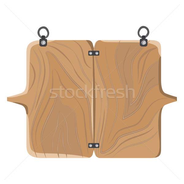 Wooden Board with Fastener Vector Illustration Stock photo © robuart