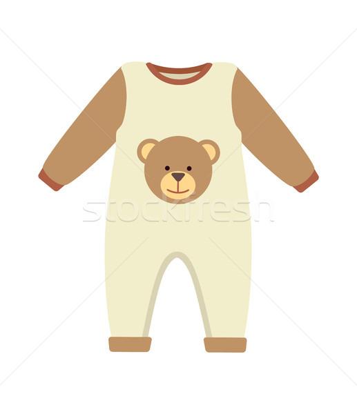 Baby ubrania kostium plakat brązowy obiektu Zdjęcia stock © robuart