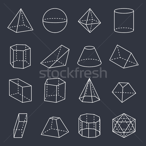 Geometric Shapes Collection Vector Illustration Stock photo © robuart