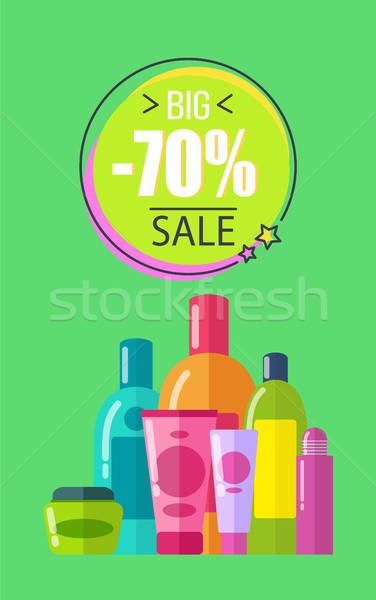 Big Sale for Soft Lotions and Creams Promo Poster Stock photo © robuart