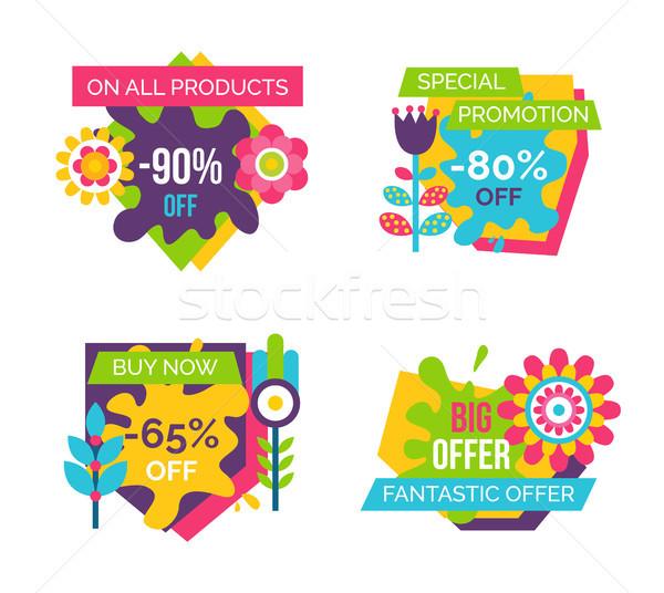 Tutti prodotti finale vendita etichette set Foto d'archivio © robuart