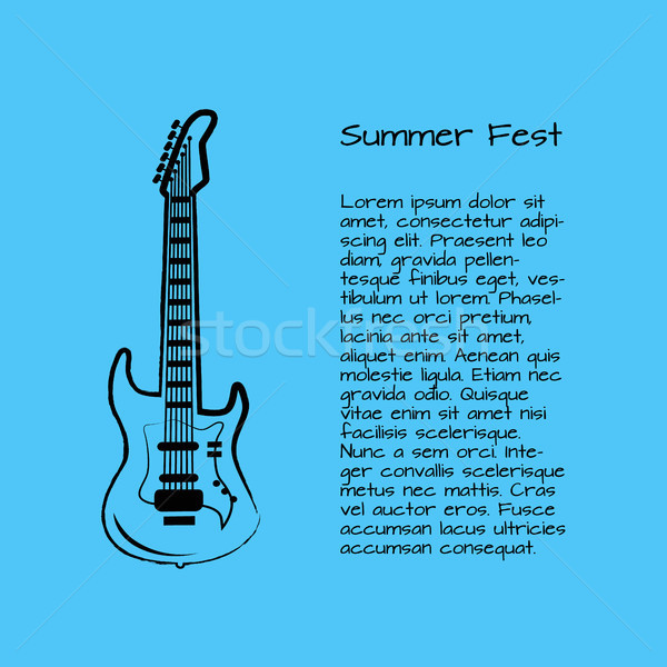 Summer Fest Rock and Roll Vector Illustration Stock photo © robuart