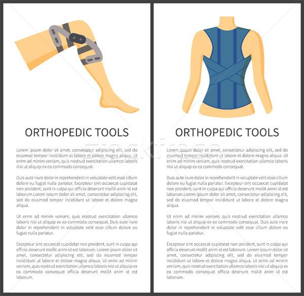 Ortopéd szerszámok gyűjtemény bannerek főcím szöveg Stock fotó © robuart