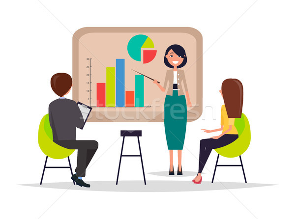 Business Meeting Presentation Vector Illustration Stock photo © robuart