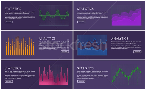 Statistiek analytics poster vector diagrammen illustratie Stockfoto © robuart