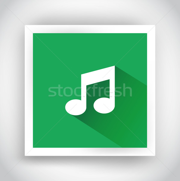Icon of music for web and mobile applications Stock photo © robuart