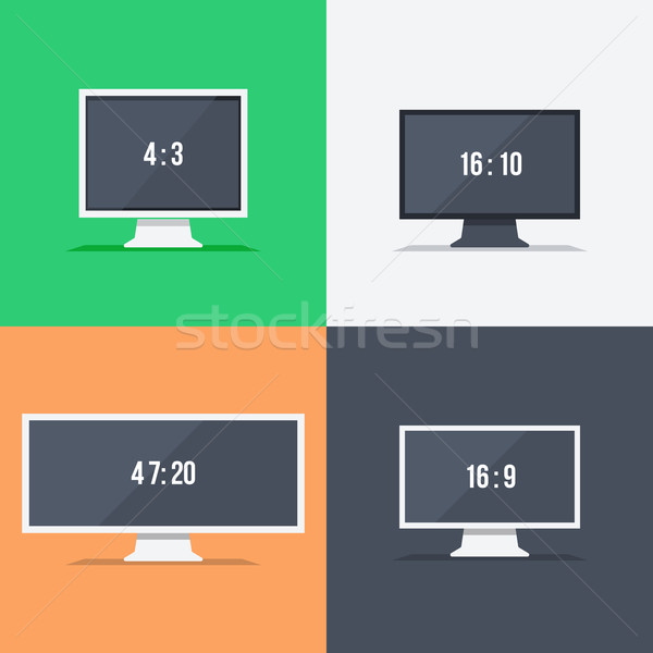 Responsive web design on different monitors Stock photo © robuart