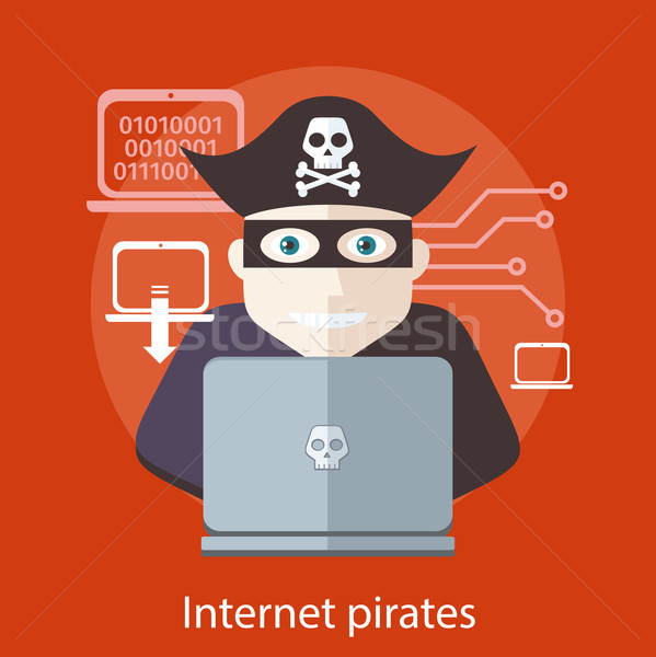 Internet Pirates Concept Stock photo © robuart