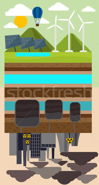 Eco Concept and Environmental Pollution by Factory Stock photo © robuart