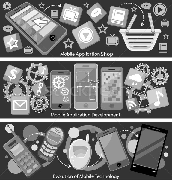 Mobile Application Store and Development Stock photo © robuart