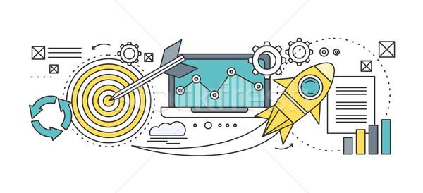 Analitik analiz gelişme başlangıç diyagram Stok fotoğraf © robuart