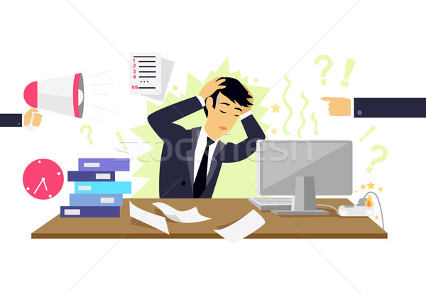 Stressful Condition Icon Flat Isolated Stock photo © robuart