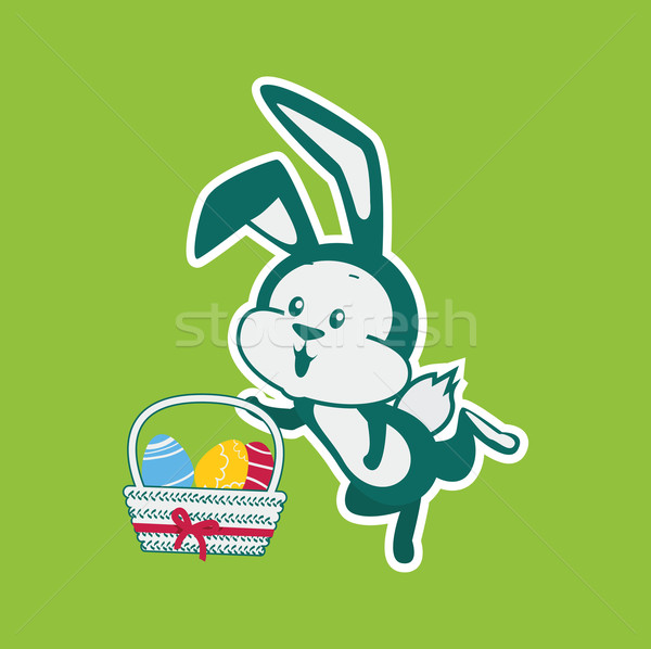 Easter Rabbit Icon Egg Design Flat  Stock photo © robuart
