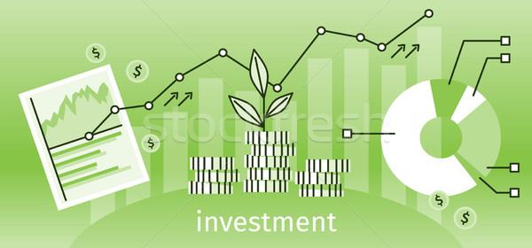 Financiar inversión banner gráfico tabla crecimiento Foto stock © robuart