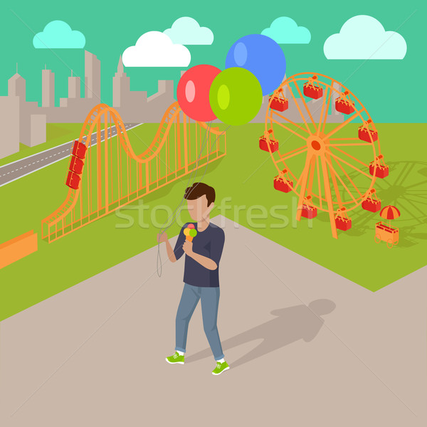 Holiday in the Amusement Park Concept Stock photo © robuart
