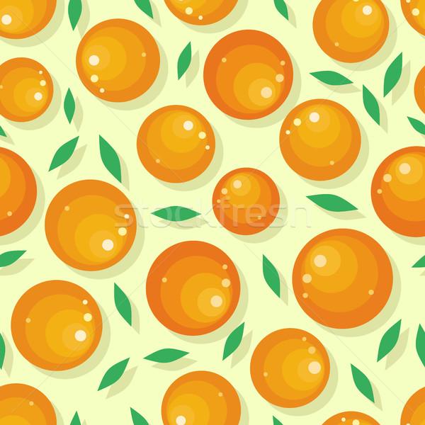 Orange Fruit Seamless Pattern Stock photo © robuart