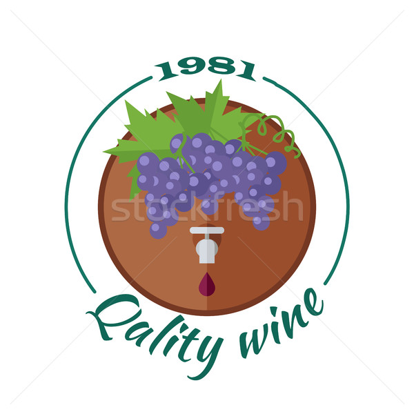 Quality Wine 1981. For Labels, Tags, Posters Stock photo © robuart