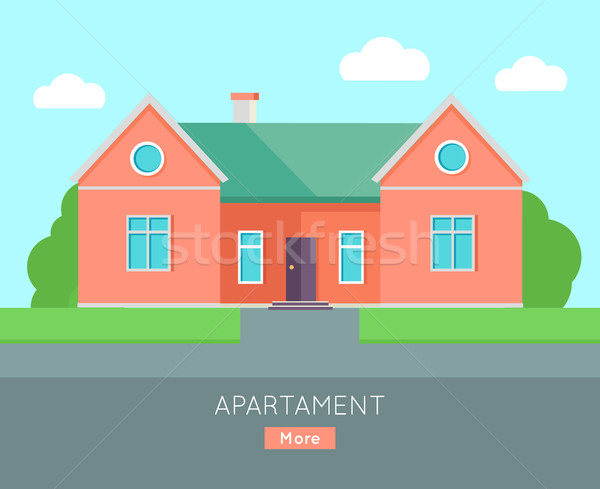 Appartment Banner Poster Template. Separete House. Stock photo © robuart
