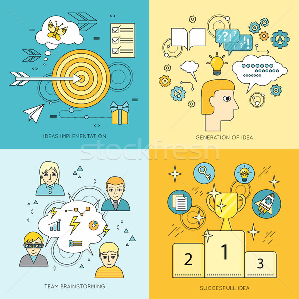Set of Creating Ideas Concept Vector Illustrations Stock photo © robuart