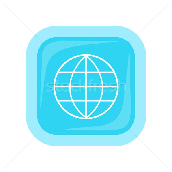 Terra globo emblema logotipo modelo ícone Foto stock © robuart