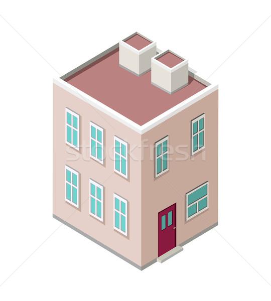 Stock photo: Isometric City Building Vector. Isometry