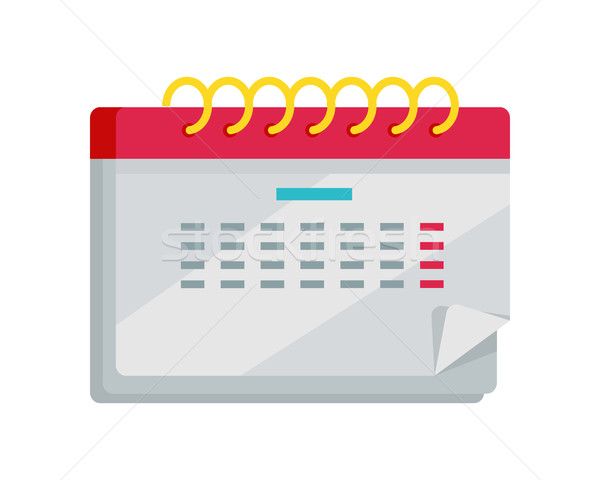 Calendar App Icon in Flat Design. Web Organizer Stock photo © robuart